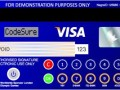 Visa CodeSure Payment card top