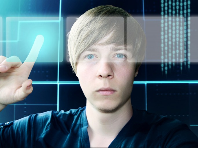 Young Man and Touchscreen Interface © lassedesignen - Fotolia.com