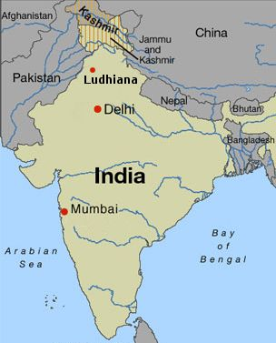 Ludhiana India map Silicon UK