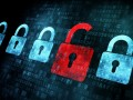 Security concept: Lock on digital screen © maxkabakov - Fotolia