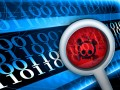 fotolia: Glass focused on virus in digital code © pixel_dreams #38396957