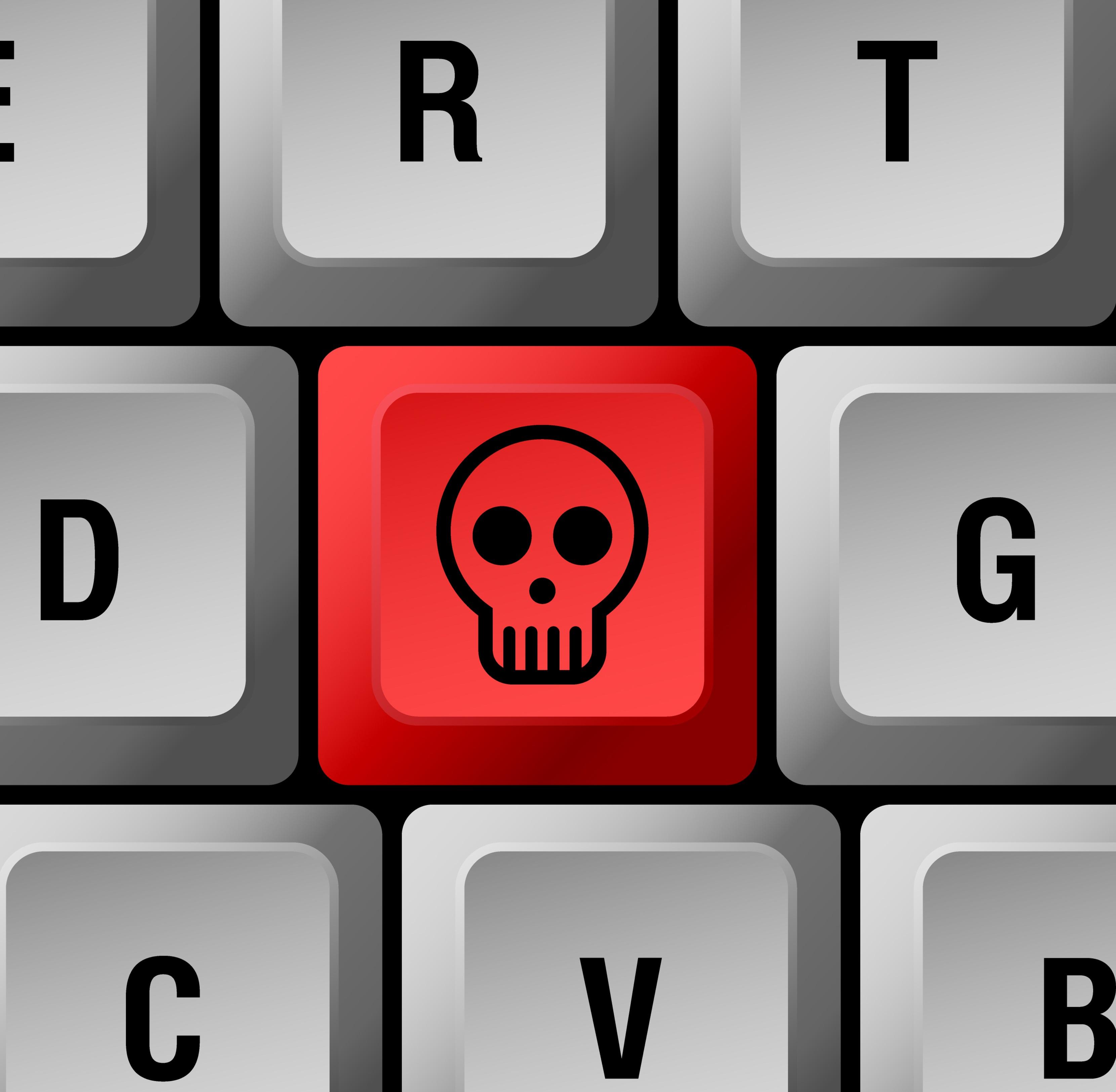 Malware - Fotolia: skull button © alekup #34457353