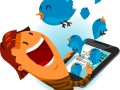 Girl on Twitter Bird © Fotolia