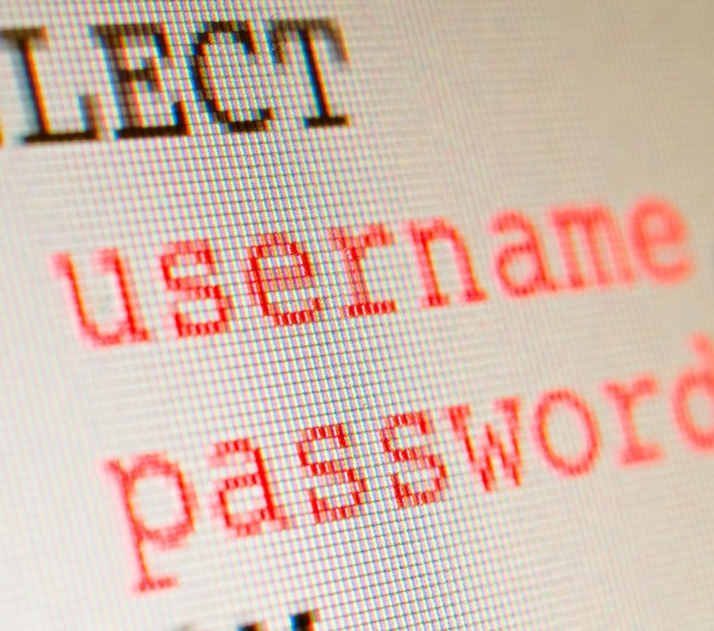 SQL username password - Shutterstock: © hauhu