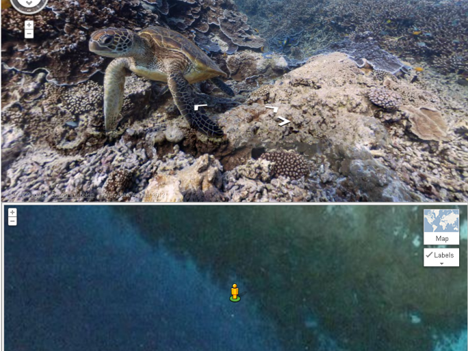 Google maps underwater great barrier reef - image from Caitlin Seaview Survey