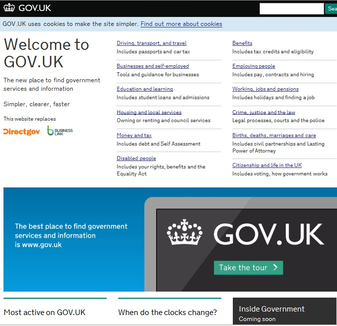 Gov.uk screenshot