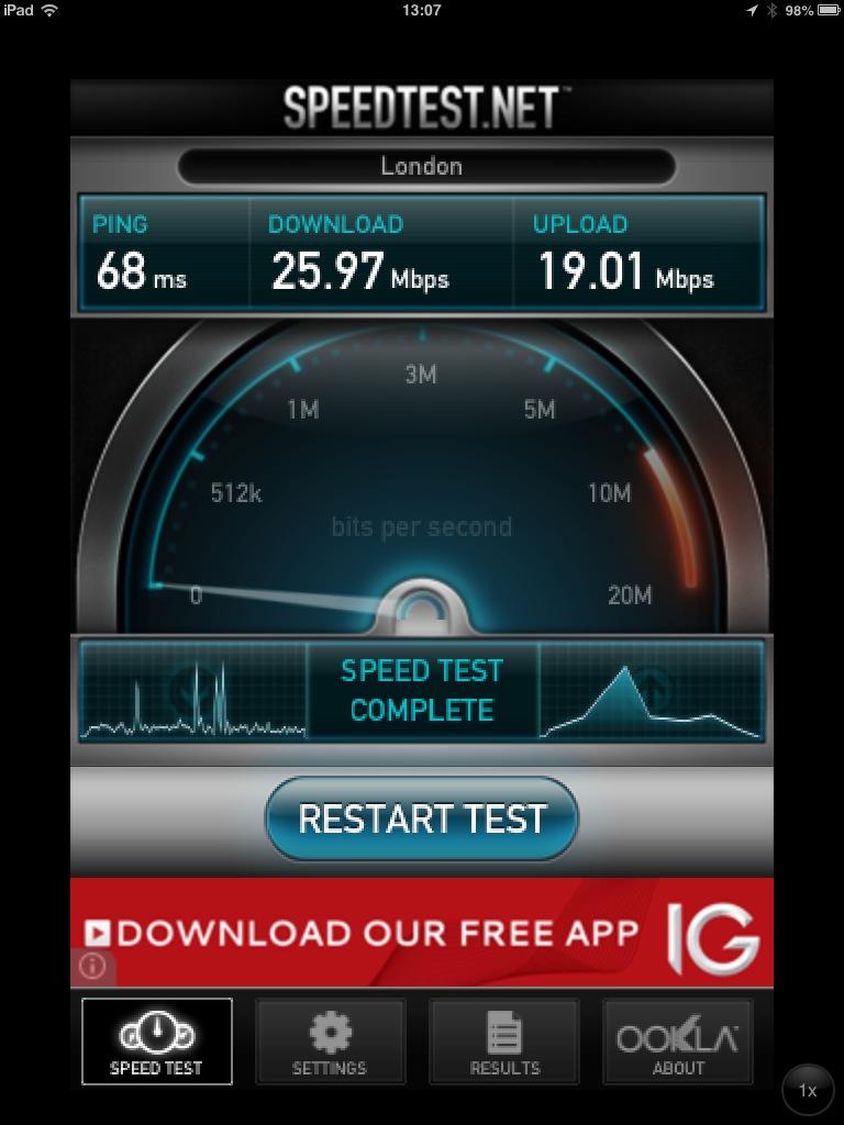 EE 4G Speedtest