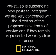 national geographic abandons Instagram