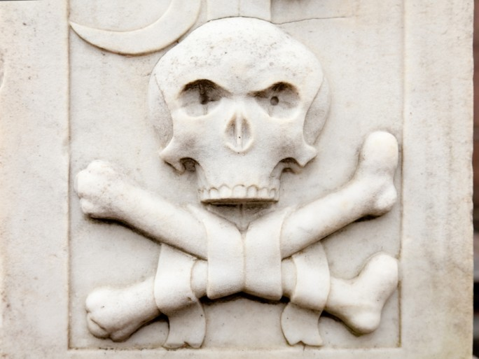 skull bones security russia hacker pirate © Alexey Solodov Shutterstock