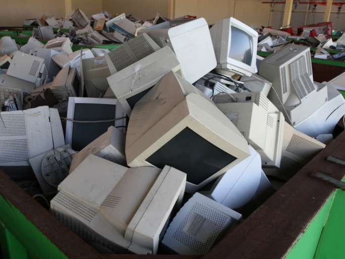 e-waste, WEEE monitors screens rubbish trash © rezachka shutterstcok
