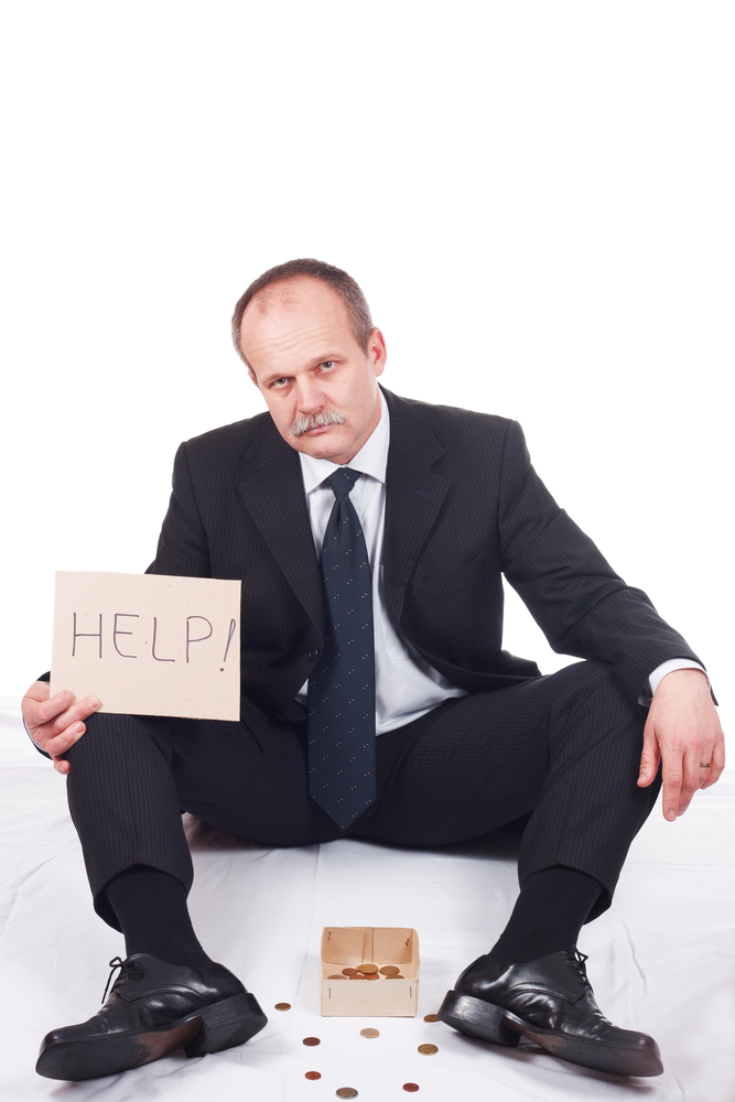 bankrupt business beg fail © Bernad Shutterstock