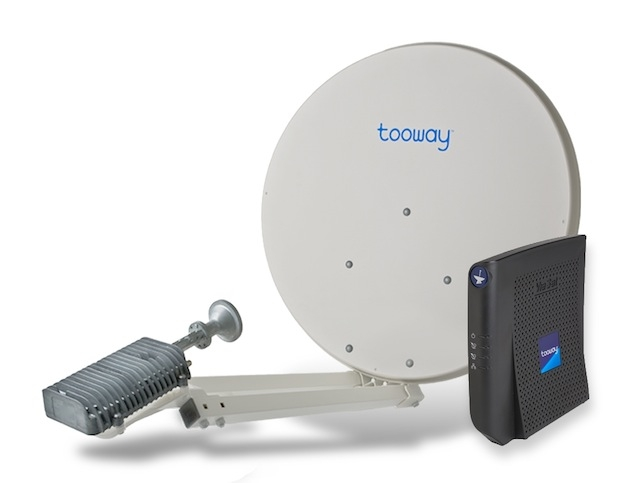 Eutelsat tooway satellite bradaband dish