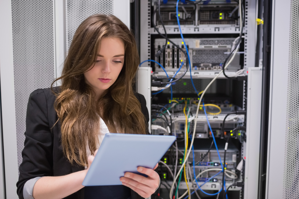 women cisco networks girl tablet server © wavebreakmedia Shutterstock