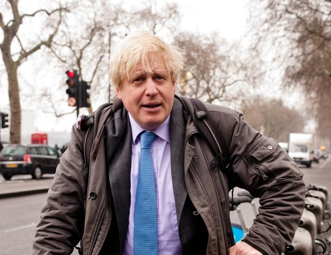 Boris Johnson bike mayor of London lead © pcruciatti / Shutterstock.com