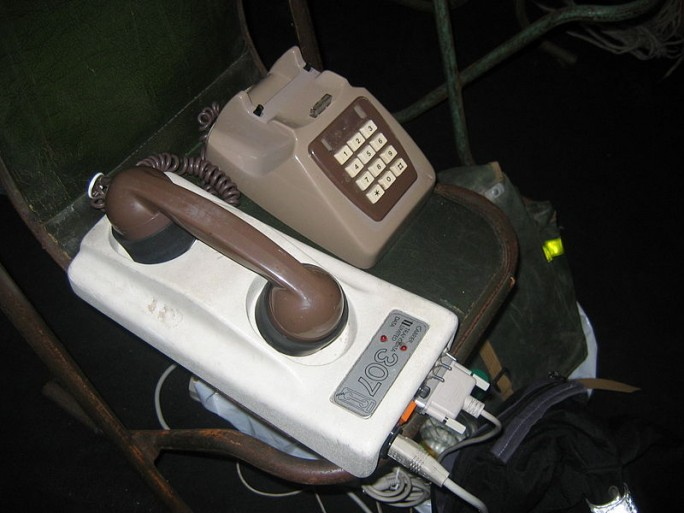 old fashioned acoustic modem
