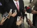 Press conference, media journalist recording news press © Picsfive Shutterstock