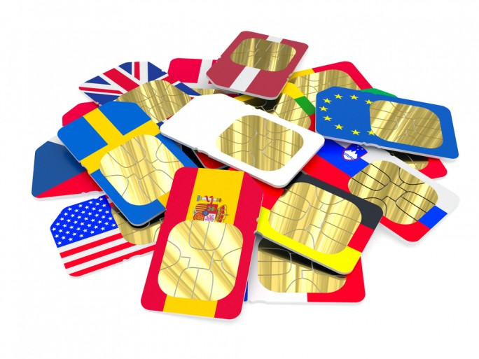 Mobile phone roaming Europe SIM cards © 136240814 Shutterstock