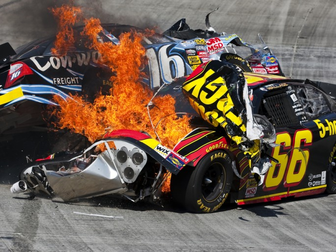 NASCAR crash sport © Action Sports Photography Shutterstock