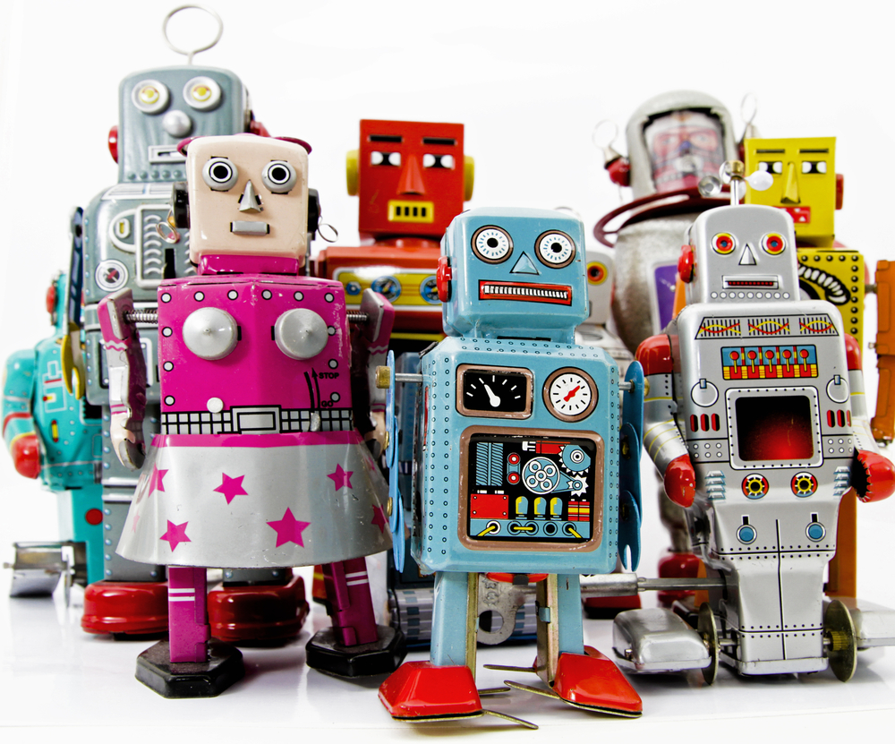 Friendly robot toys © charles taylorShutterstock