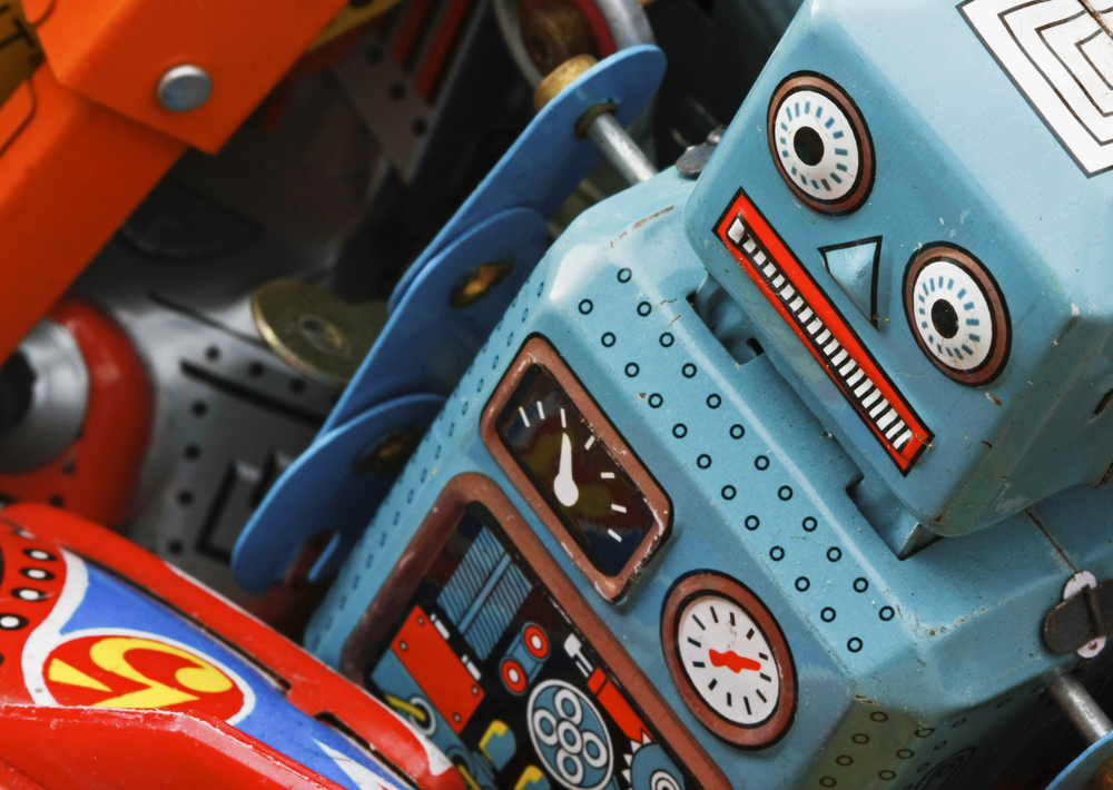 old Friendly robot toys © charles taylorShutterstock