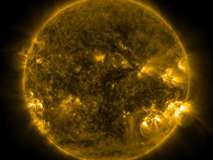 The sun, courtesy of the Met Office