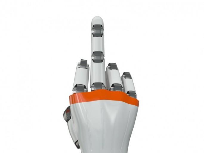 gesture recognition robot hand middle finger © saginbay shutterstock