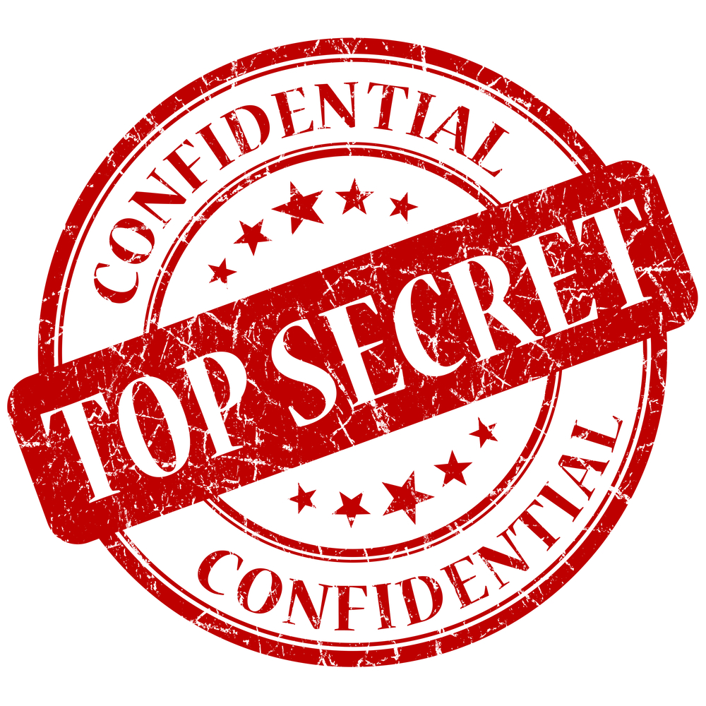 top Secret stamp security leak © Aquir Shutterstock