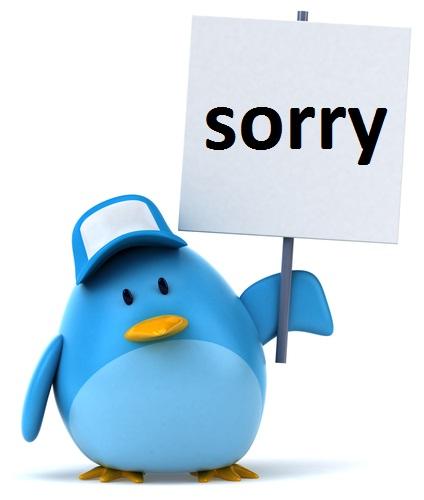 Julien Tromeur - Twitter Sorry