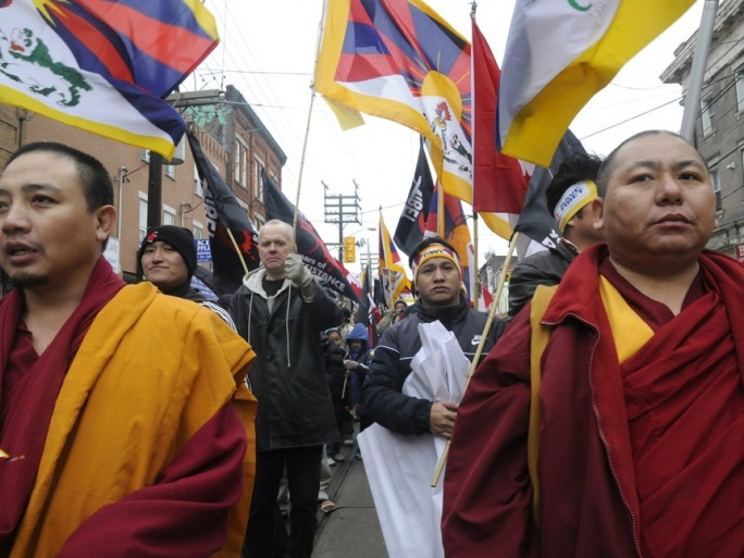 Tibet protest 2 - Shutterstock - © arindambanerjee