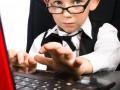 child office desk laptop Shutterstock