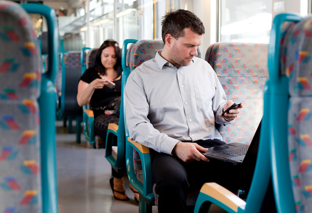 mobile phone train signal © Peter Bernik Shutterstock