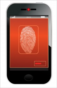 iphone mobile fingerpint scanner security © Tetiana Yurchenko Shutterstock