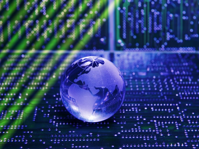 Internet of things, world electronics circuit board network connection © asharkyu Shutterstock