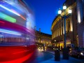 Piccadilly circus london bus night art © Konstanttin Shutterstock