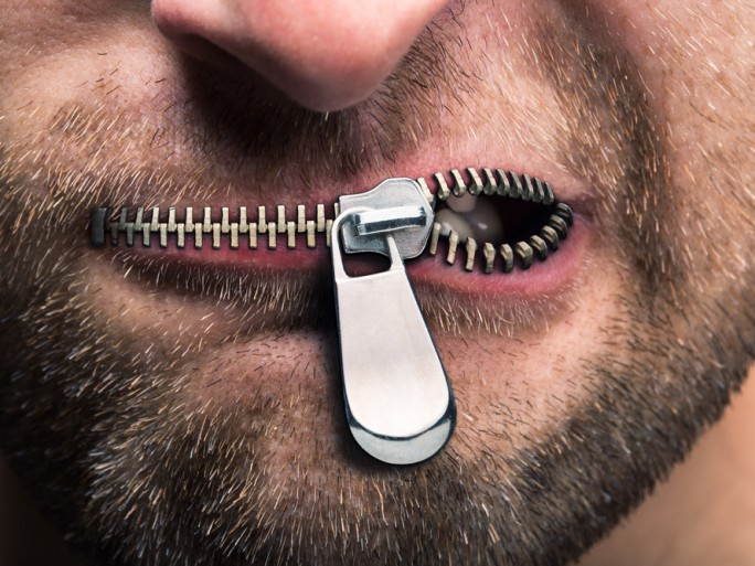 censorship zipped lip © Nomad_Soul Shutterstock