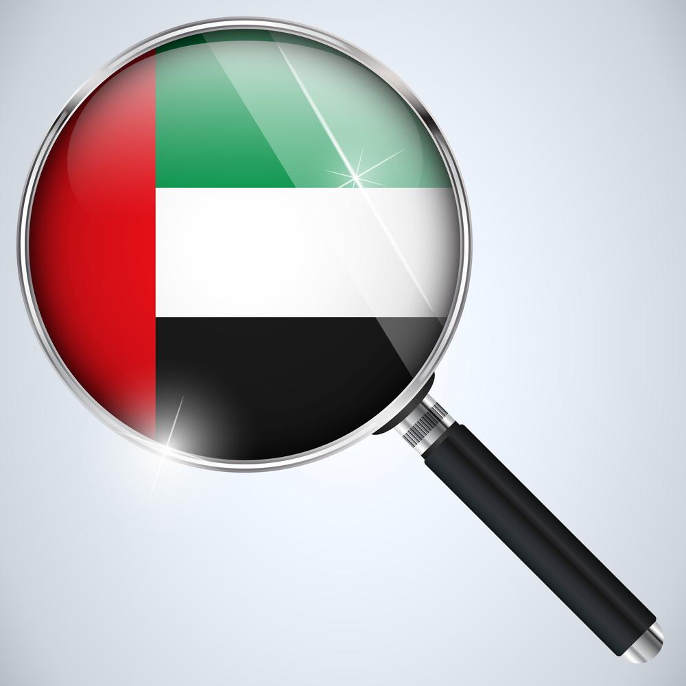UAE Arab emirates spy NSA surveillance magnifying glass © gubh83 Shutterstock