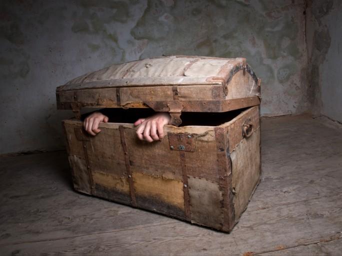 pirate chest censorship crime hostage © Sinisa Botas Shutterstock
