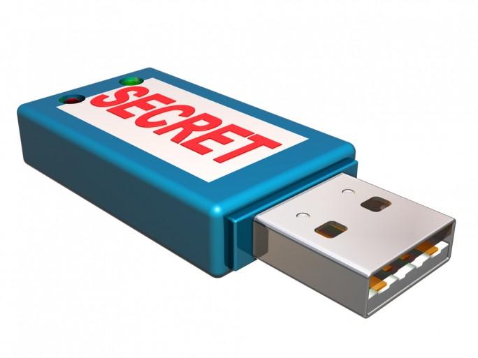 USB secret lock storage flash drive security © Paul Fleet Shutterstock