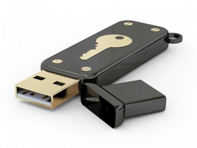 USB storage flash drive secret lock key © luchschen Shutterstock