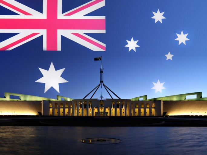 Australia flag parliament government © Neale Cousland Shutterstock