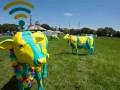 EE Highspeed Herd cow glastonbury fibreglass