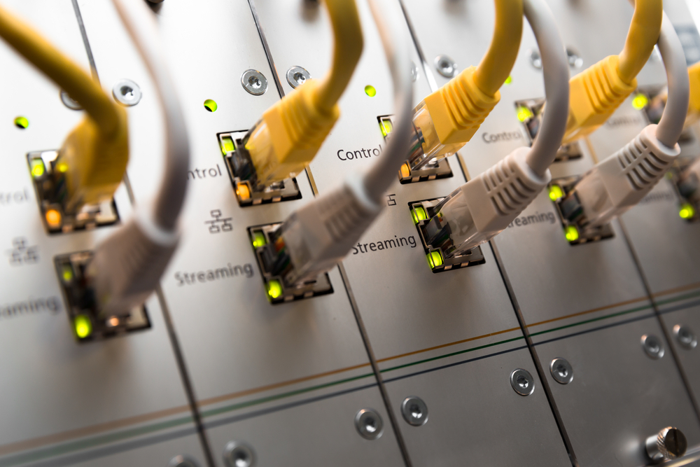Ethernet cables network lights © marutti Shutterstock