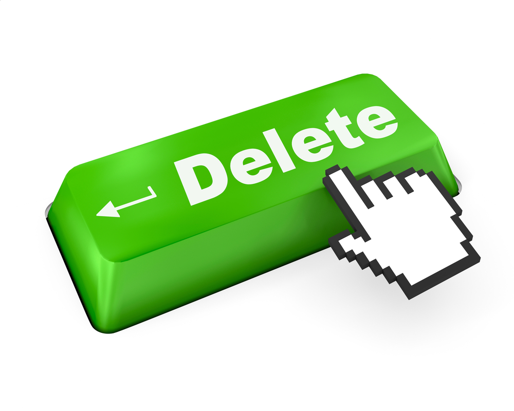 Erase delete forget right to be forgotten key © Sarawut Aiemsinsuk Shutterstock