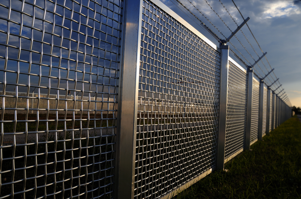 National border security fence firewall guard boundary data