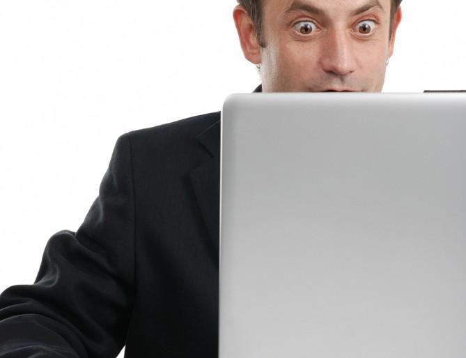 shocked at computer