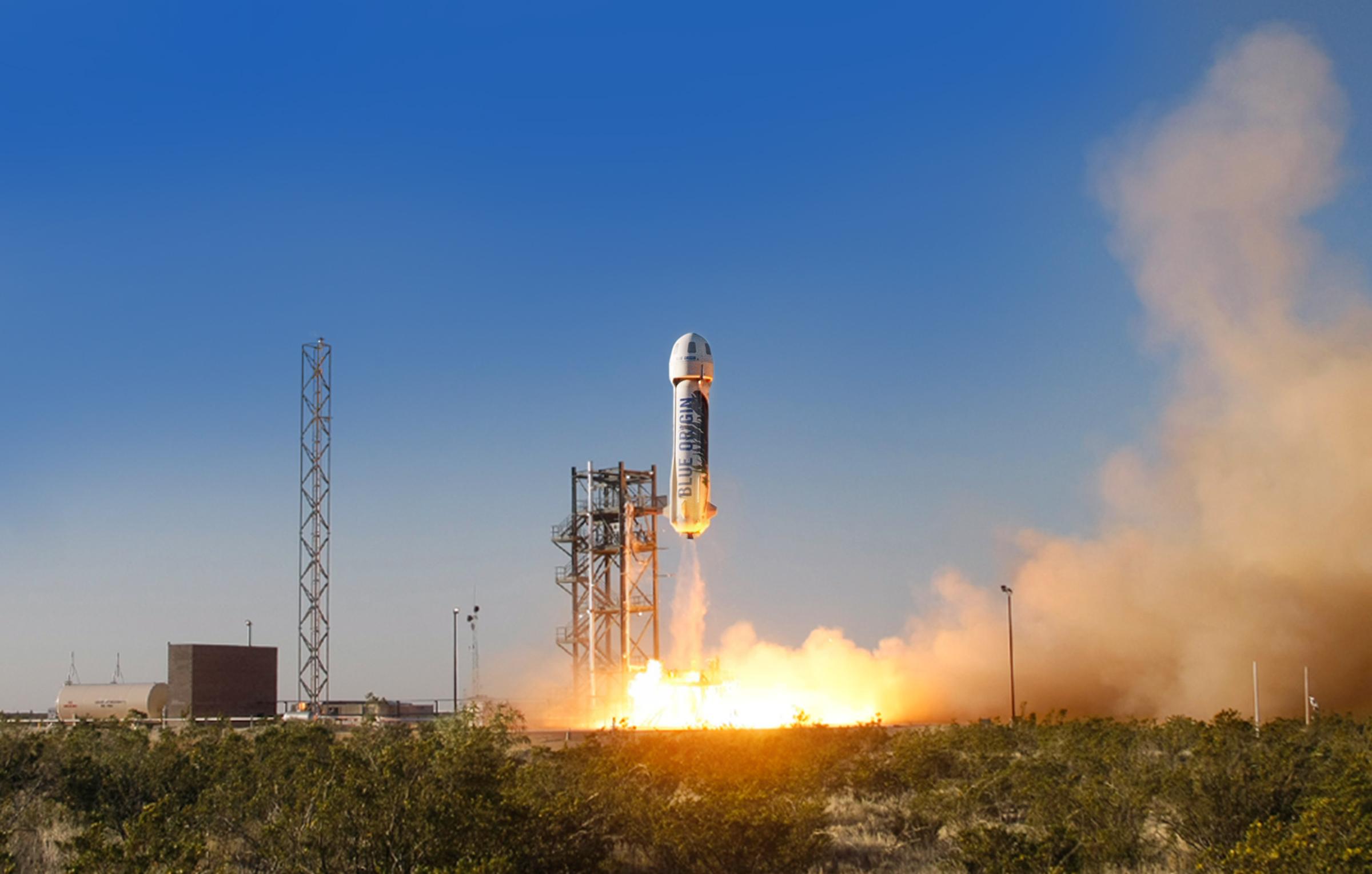 Blue Origin's New Shepard space vehicle. Image credit: Blue Origin