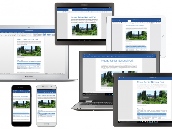 Office 2016 across devices