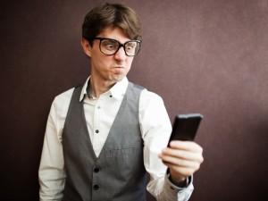 man angry at phone