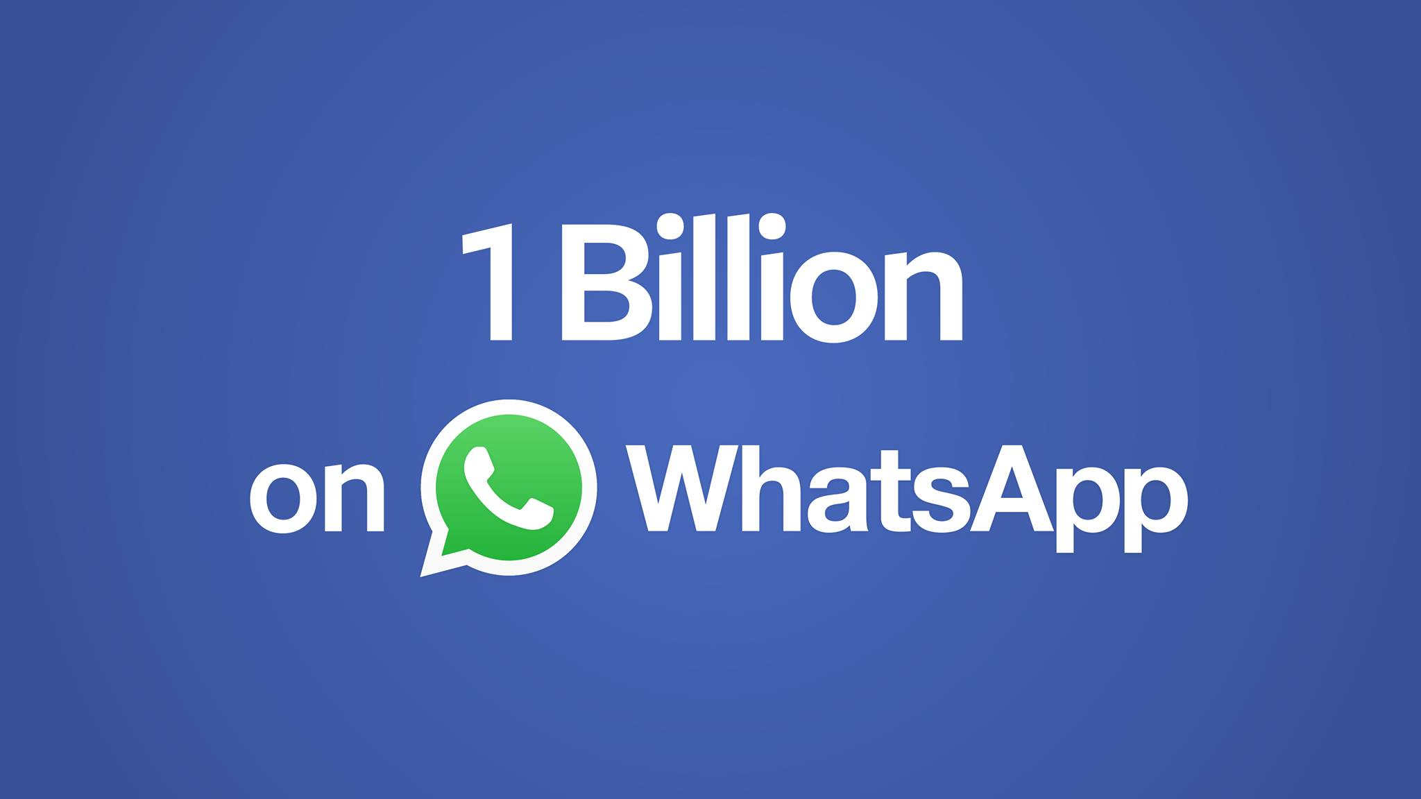 whatsapp billion