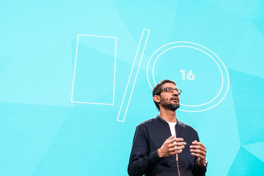Google chief executive Sundari Pichai